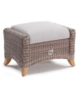 Corinaldo Footstool Cubu Taupe / Olefin Warm Grey