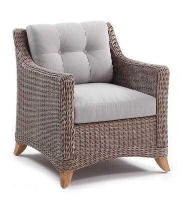 Corinaldo Living Armchair Cubu Taupe / Olefin Warm Grey