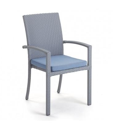 Brisbane Stackable Armchair Embossed Grey / Jeans Blue