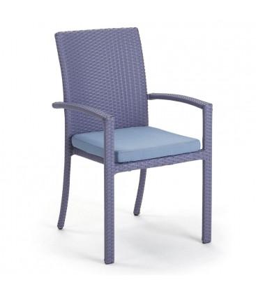 Brisbane Stackable Armchair Embossed Violet / Jeans Blue