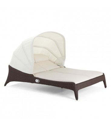 Bellano Double Sunlounger Cubu Croco / MarinaPLUS Cream