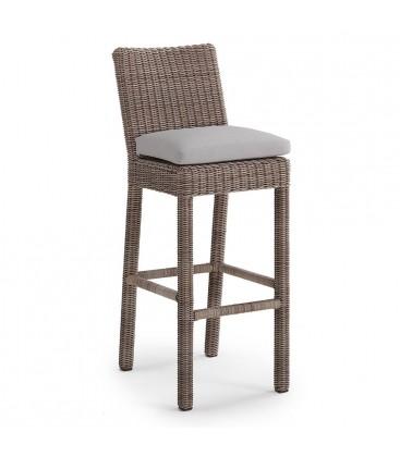 Delmar Bar Chair Cubu Taupe / Olefin Warm Grey
