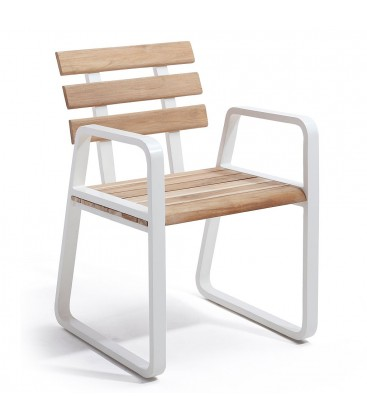 Fidenza Dining Armchair Nat Teak / Rustic_Brilliant White