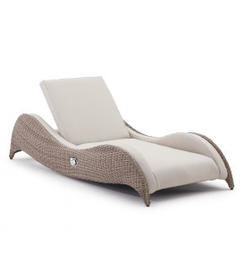 Luxor Single Sunlounger with Integrated Furniture Cover