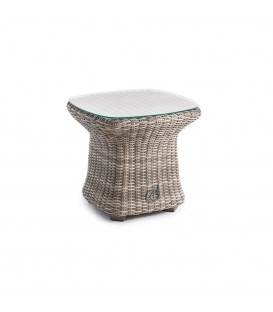 Bonassola Side Table 51 x 51 White Pepper