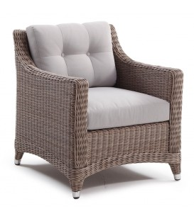 Cleveland Living Armchair Cubu Taupe / Olefin Warm Grey