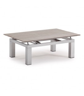 Cancun Lift Top Coffee Table 120x79 WoodTEC Taupe_Brilliant Silver